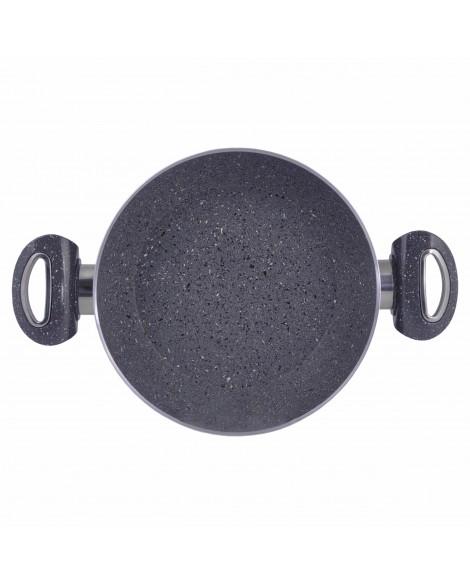 2 Pcs Gri Granit Tava Seti (18cm Çift Kulp Sahan - 22cm Tek Kulp Tava)