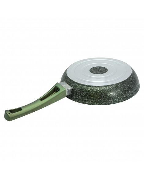 3 PCS Yeşil Granit Tek Kulp Tava Seti
