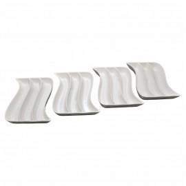 4 Parça Porselen Kahvaltı Tabağı