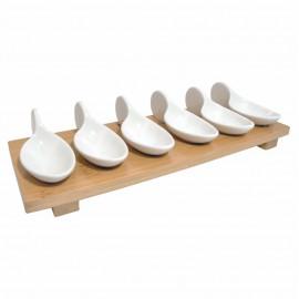 6 Parça Porselen Bambu Kahvaltılık Sosluk